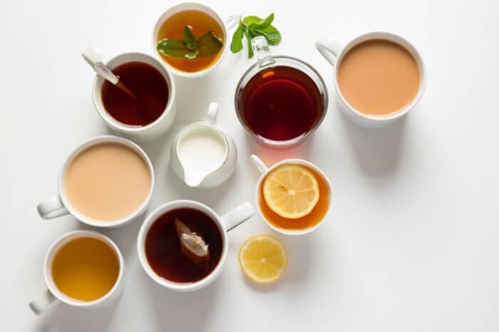 数種類の紅茶の画像