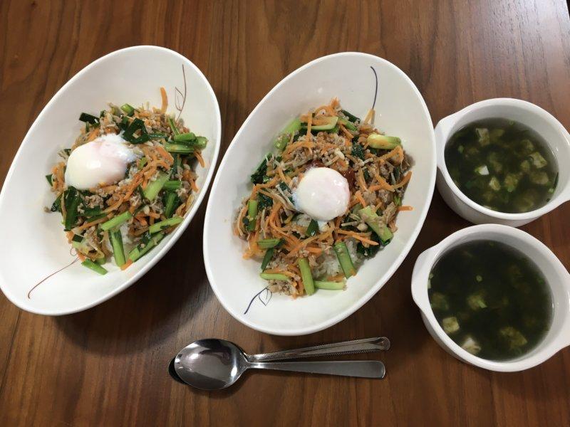 ビビンバと韓国風スープ 完成図