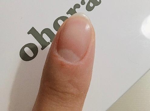 甘皮処理後の爪
